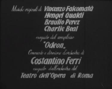 musiche titoli di testa - LEBBRA BIANCA 1951 Enzo Trapani